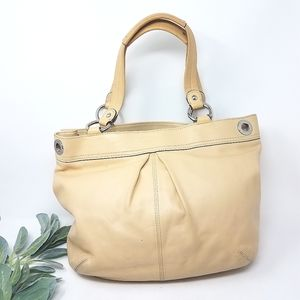 COACH Kyra Nude Leather Shoulder Bag
